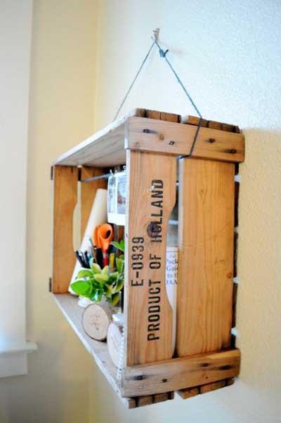 ideas para reciclar cajas de madera