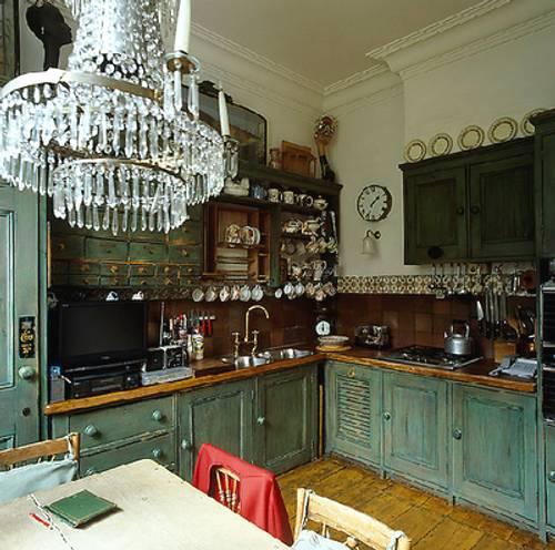 Un candelabro o l mpara de ara a en cocinas decoracion in - Decoracion cocina vintage ...