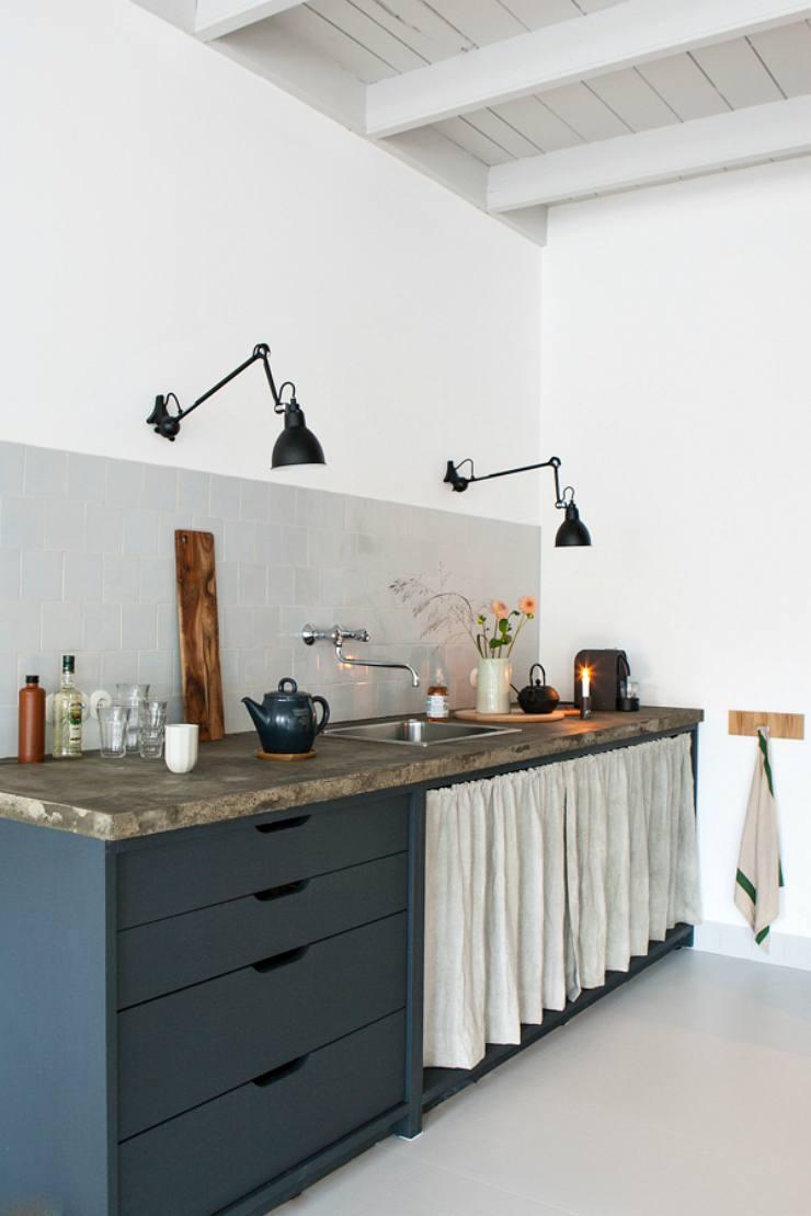 iluminación de cocinas con flexos