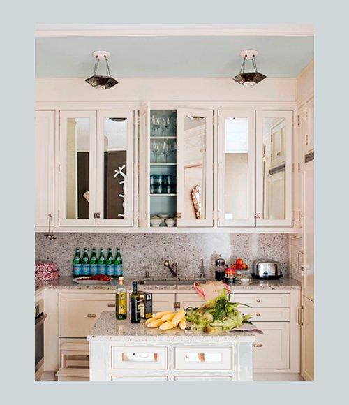 Ideas decoraci n iluminar la cocina con espejos for Cocinas con espejos