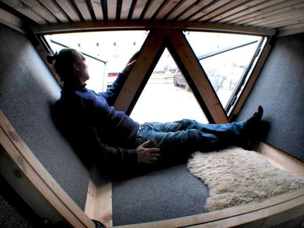 interior de una mini casa