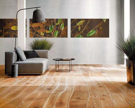 madera natural en el pavimento