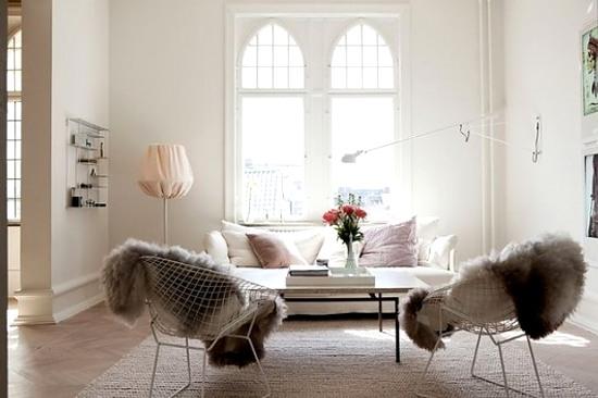 Decora con calidez sillas y asientos decoracion in - Mantas de piel ...