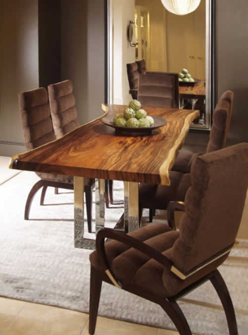 Mesa de madera maciza decoracion in for Mesas de comedor de madera maciza
