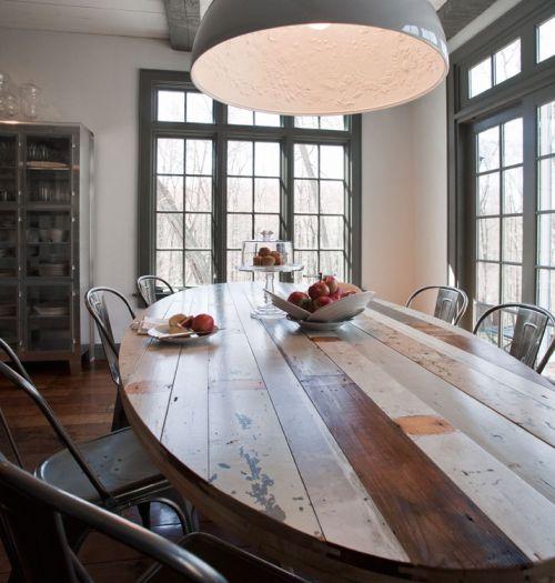 Una Mesa Rústica y Reciclada en el Comedor - Decoracion.IN