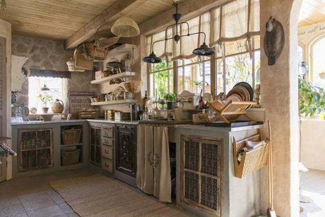 Casa de campo con aire vintage decoracion in - Cocinas rusticas de campo ...