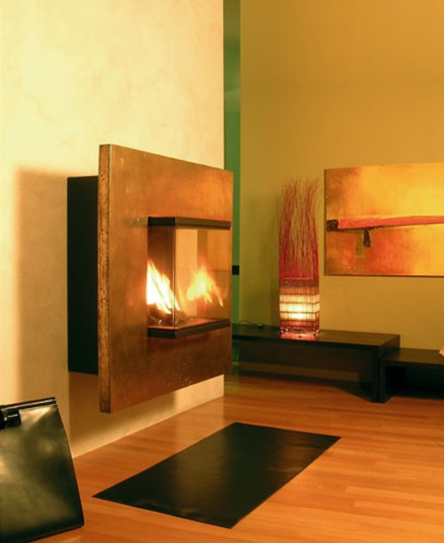 Modernas chimeneas de pared decoracion in - Decoracion de chimeneas modernas ...