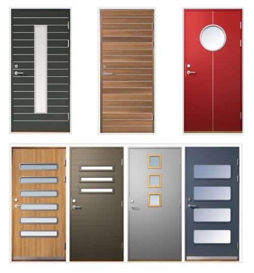 Modernos modelos de puertas de ingreso decoracion in for Puertas en casas modernas