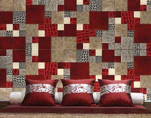 mosaicos de cuero o piel un suave revestimiento