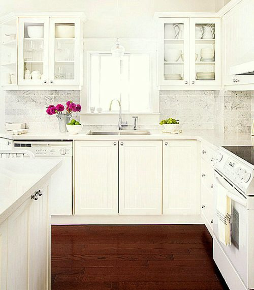 Kitchen Colors With White Cabinets And Stainless Appliances: Muebles Blancos Para La Decoración De Cocinas