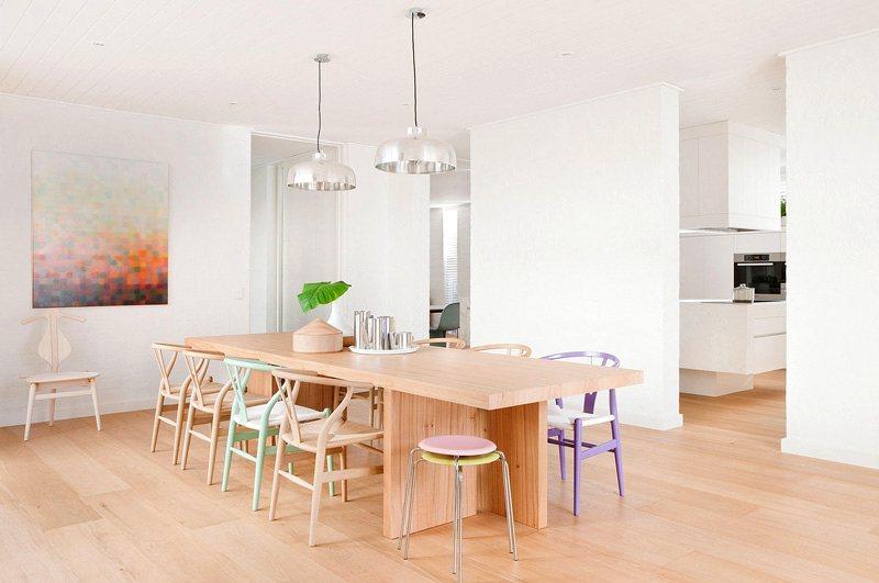 muebles clásicos en tonos pastel
