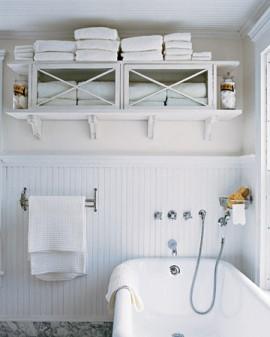 Ideas para colgar y organizar toallas decoracion in Muebles de almacenaje