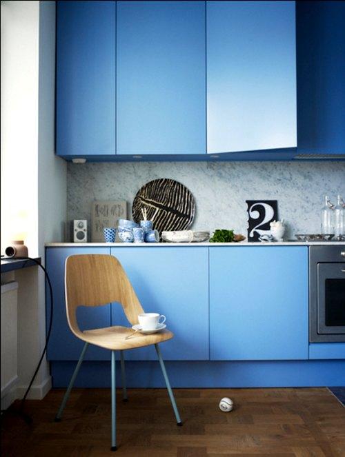 Cocinas a todo color ideas originales decoracion in for Muebles de cocina originales