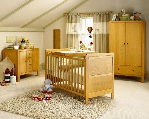 muebles en la habitación bebé