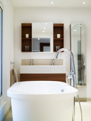 muebles e iluminación para baños
