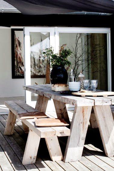 muebles de jardín rústicos