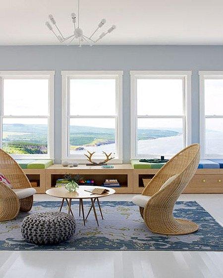 muebles modernos de mimbre
