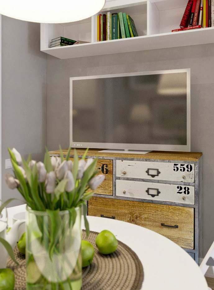 mueble reciclado y original para el televisor