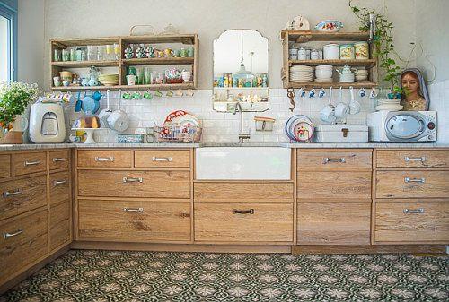 Una dosis de vintage en la cocina decoracion in - Muebles reciclados vintage ...