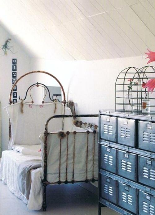 muebles vintage en el dormitorio