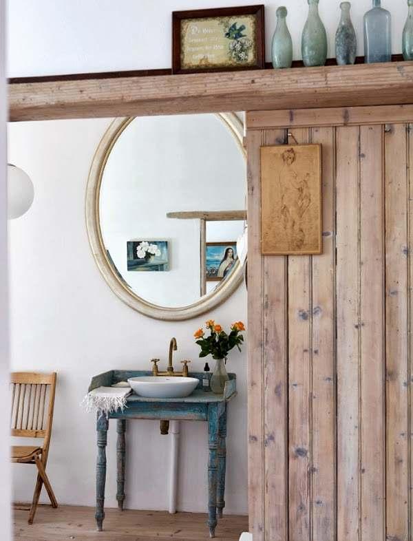 Muebles Baño Vintage:muebles vintage y recuperados en el baño