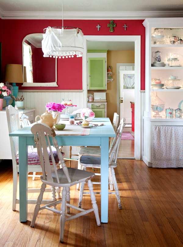 Un comedor rico en texturas decoracion in for Decoracion muebles vintage