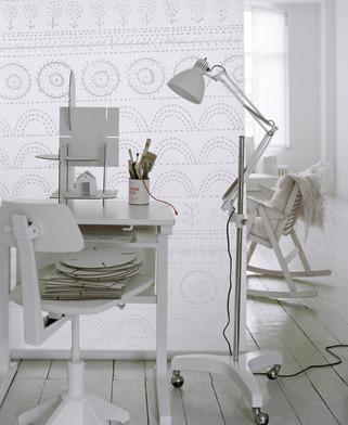 oficina o estudio en blanco