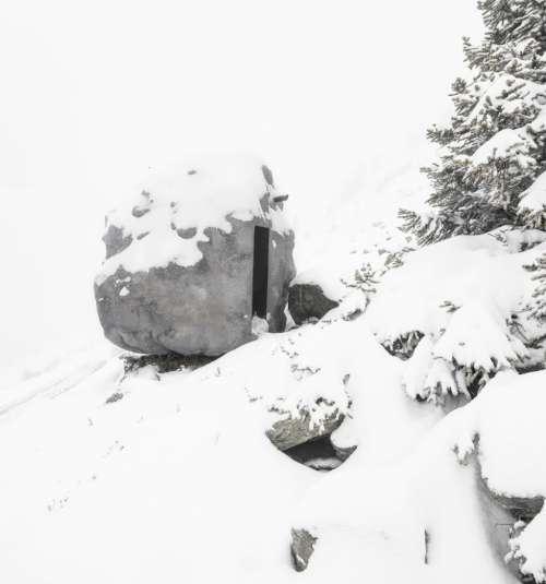 original cabaña en las montañas
