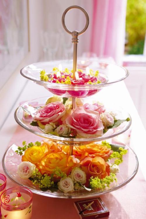 Original centro de mesa para decoraci n de primavera - Decoracion para mesas de centro ...