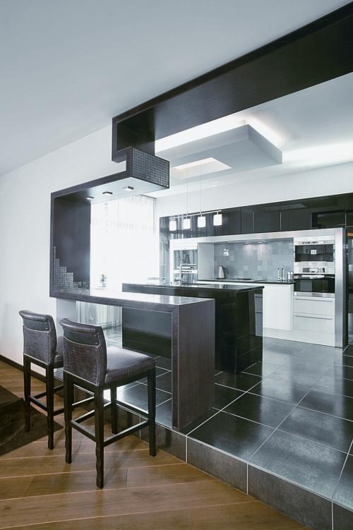 Original divisor de ambientes para una cocina moderna for Una cocina moderna