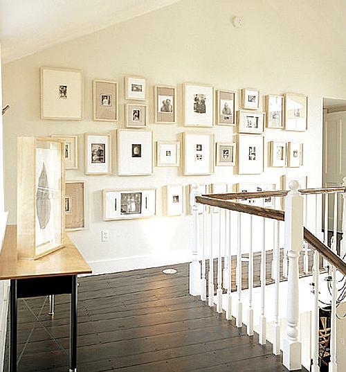 pared con fotos