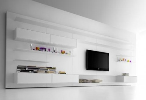 Pared Modular y Soporte para  TV