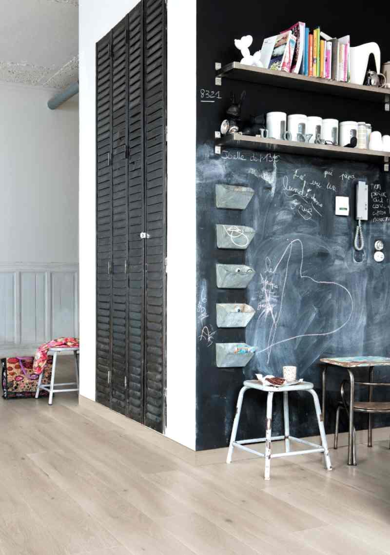 paredes con pintura de pizarra