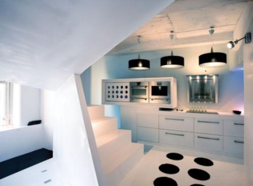 Piso con dise o de interiores futurista decoracion in - Disenos de pisos para interiores ...