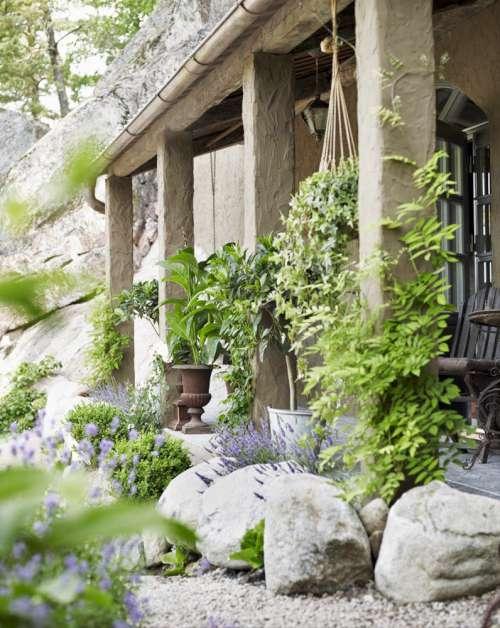 porch con plantas