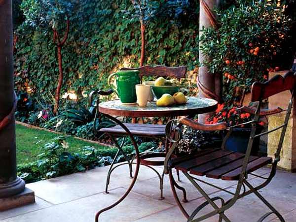 prácticos muebles de jardín