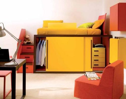 Pr cticos muebles para dormitorios de ni os y j venes - Muebles para cuartos de ninos ...