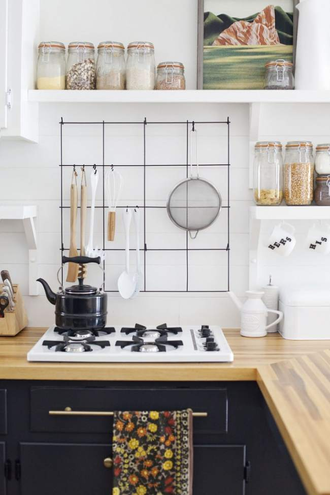 Decorativo enrejado para organizar la cocina decoracion in - Objetos decoracion cocina ...