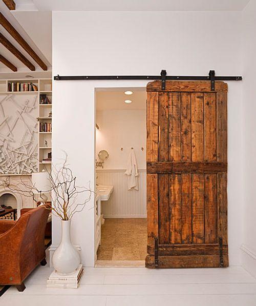 Puerta corredera de madera r stica decoracion in - Puerta rustica de madera ...