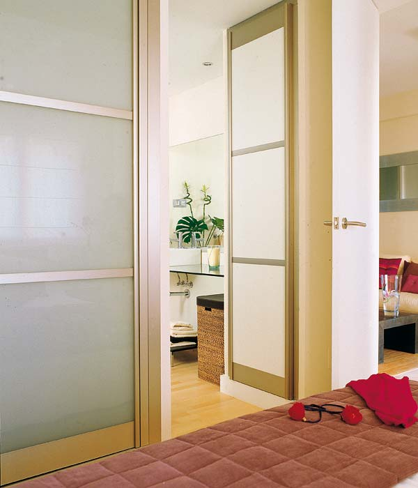 China Interior Frosted Glass Bathroom Door Interior