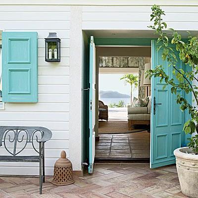 puertas de entrada coloridas