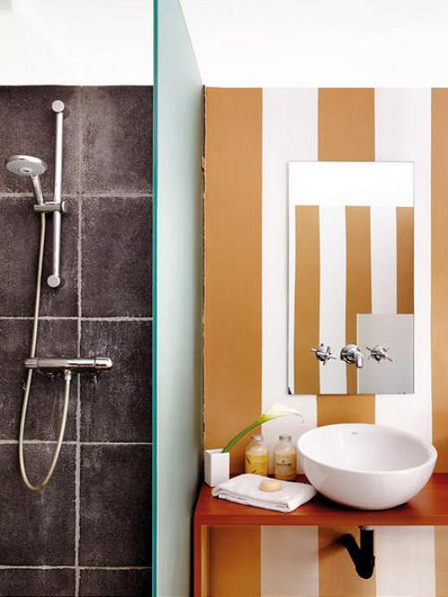 Baños & Estilos: Baños decorados con rayas