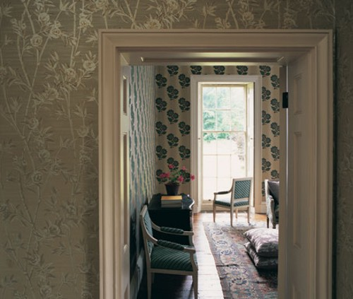 Recibidores con papel decorativo decoracion in - Papel pintado para recibidores ...