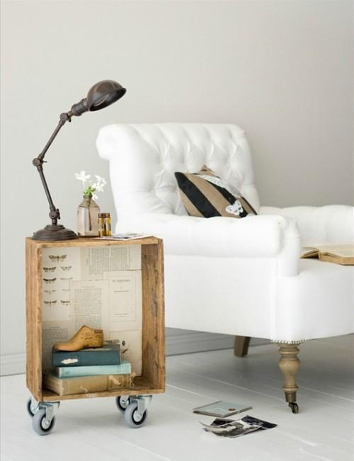 recicla y decora con una original mesa auxiliar