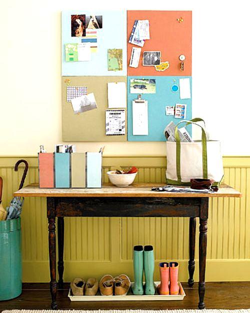 renovar el recibidor con color