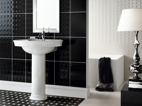 Decoracion Baños En Blanco:Revestimiento Cerámico para Baños en Blanco y Negro – DecoracionIN