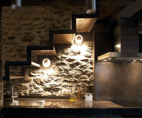 Revestimientos De Piedra Para Interiores Actuales Decoracionin - Decoracion-con-piedras-en-interiores