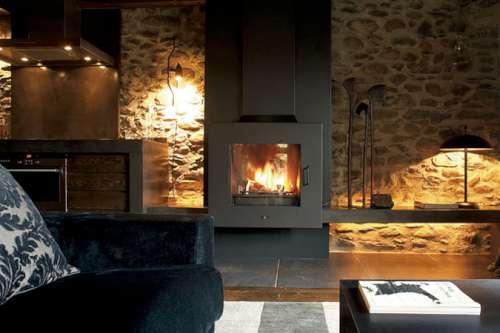 Revestimientos de piedra para interiores actuales - Pared interior de piedra ...