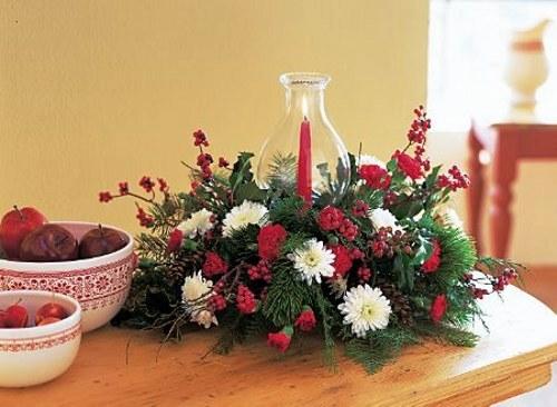 Tips decoraci n navidad rojo en navidad decoracion in for Centro de mesa navideno manualidades