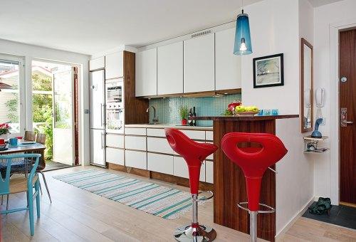 rojo y turquesa en muebles y accesorios